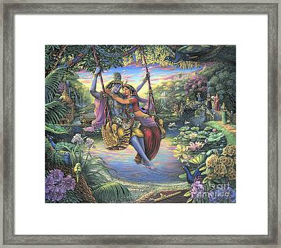 The Swing Pastime Framed Print
