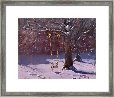 The Swinger Framed Print by Ylli Haruni