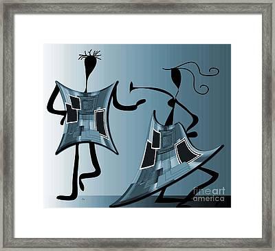 The Swingers Framed Print by Iris Gelbart