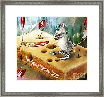 The Swiss National Course Framed Print by Miki De Goodaboom