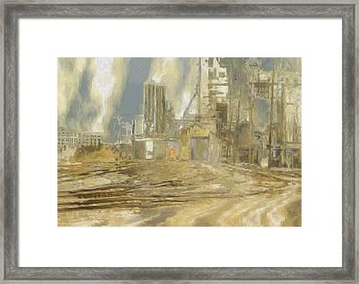 The Switch Yard Framed Print by Jack Zulli