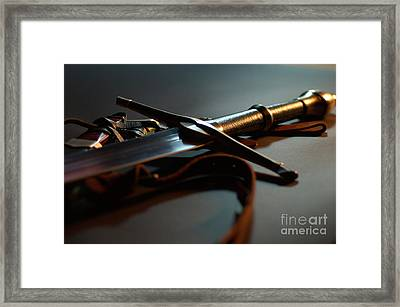 The Sword Of Aragorn 1 Framed Print by Micah May
