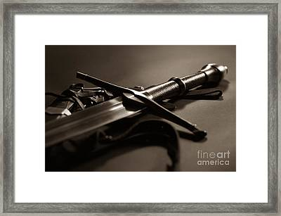 The Sword Of Aragorn 2 Framed Print by Micah May