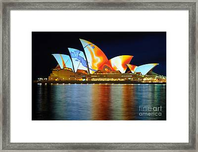 The Sydney Opera House In Vivid Colour Framed Print