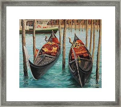 The Symbols Of Venice Framed Print by Kiril Stanchev