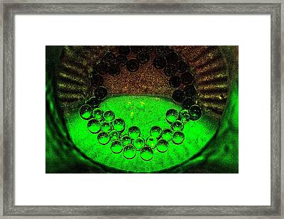 The Syntropy Of Glass Pebbles Within A Deep Vase Framed Print by Sandra Pena de Ortiz
