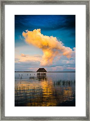 The T Cloud Framed Print