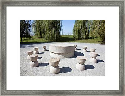 The Table Of Silence By Constantin Framed Print by Martin Zwick
