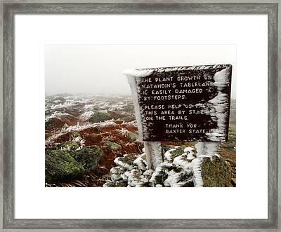 The Tablelands - Mt. Katahdin Framed Print