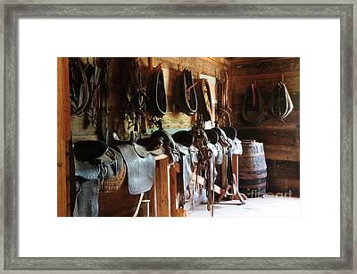 The Tack Room Framed Print by Vinnie Oakes