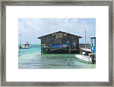 The Tackle Box Sign Framed Print by Kristina Deane