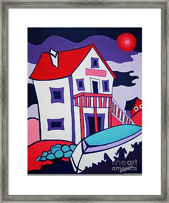 The Tackle House Framed Print by Joyce Gebauer