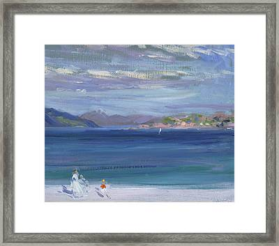 The Tail Of Mull From Iona Framed Print