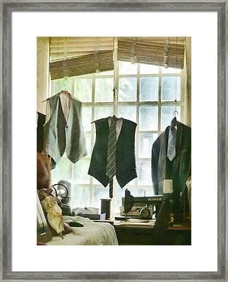 The Tailor Shop Framed Print