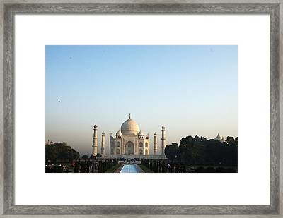 The Taj. Early Morning Framed Print