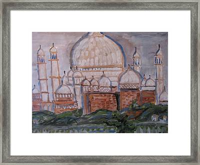 Framed Print featuring the painting The Taj by Vikram Singh