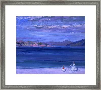 The Tale Of Mull From Iona Framed Print