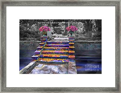 The Talk Version One Framed Print