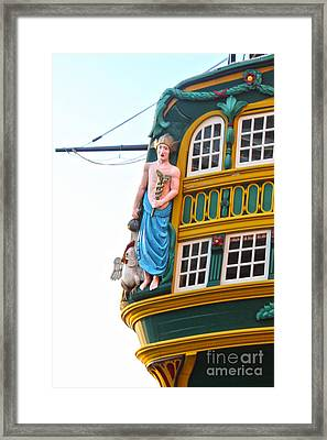 The Tall Clipper Ship Stad Amsterdam - Sailing Ship  - 02 Framed Print by Gregory Dyer