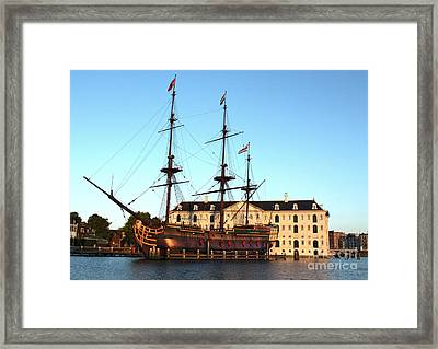 The Tall Clipper Ship Stad Amsterdam - Sailing Ship  - 05 Framed Print by Gregory Dyer