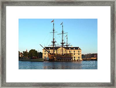 The Tall Clipper Ship Stad Amsterdam - Sailing Ship - 07 Framed Print by Gregory Dyer