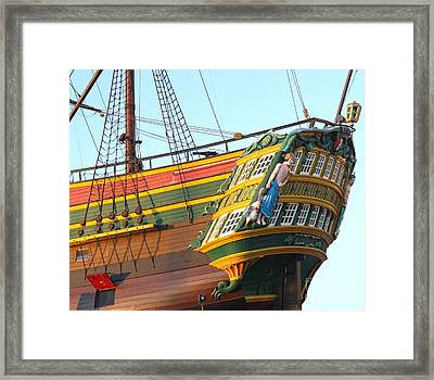 The Tall Clipper Ship Stad Amsterdam - Sailing Ship  - 08 Framed Print by Gregory Dyer