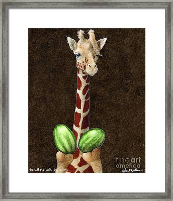 The Tall One With Big Melons... Framed Print by Will Bullas