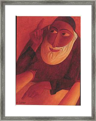 The Talmudist Framed Print