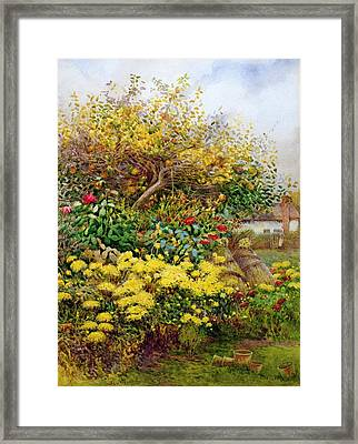 The Tangle Of Autumn, Temple Grafton Framed Print by George H. Hughes