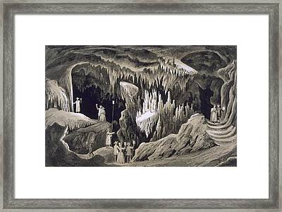 The Tapestry Room, Weyers Cave, Augusta Framed Print by Edward Beyer