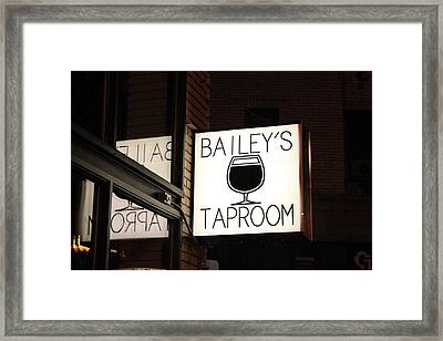 The Taproom Framed Print by Kyle Harrigan