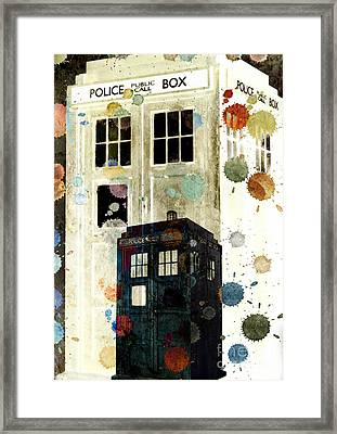 The Tardis II Framed Print by Angelica Smith Bill