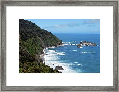 The Tasman Sea, Karamea, New Zealand Framed Print