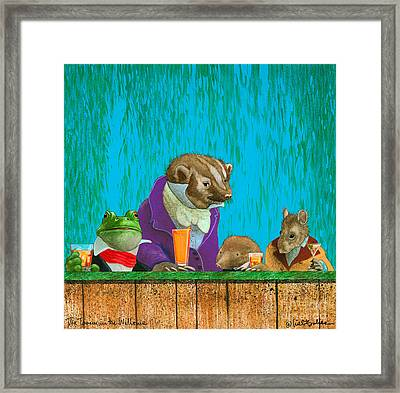The Tavern In The Willows... Framed Print by Will Bullas