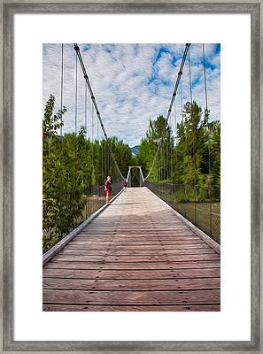 The Tawkes Foster Suspension Bridge Framed Print by Omaste Witkowski