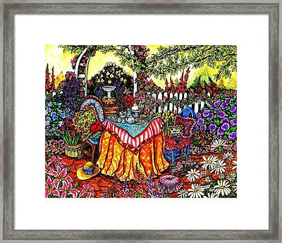 The Tea Party Framed Print by Sherry Dole
