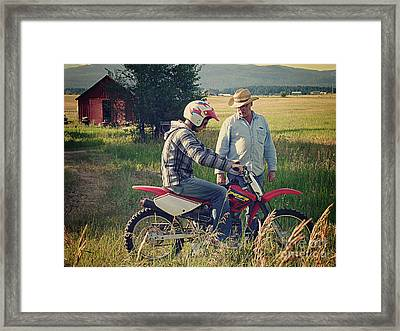 Framed Print featuring the photograph The Teacher by Meghan at FireBonnet Art