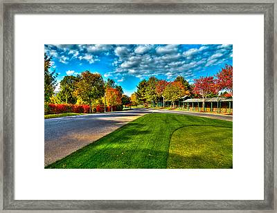 The Tear Drop Lawn At The Sagamore Resort Framed Print by David Patterson