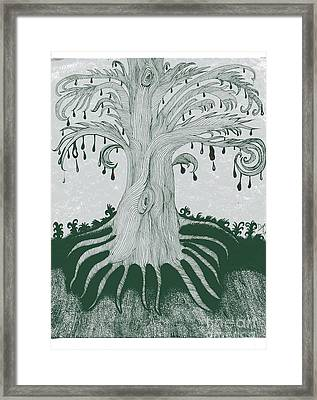 The Tearing Tree Framed Print