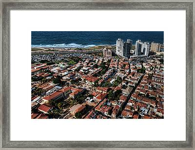 the Tel Aviv charm Framed Print by Ron Shoshani
