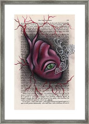 The Tell Tale Heart Framed Print by  Abril Andrade Griffith