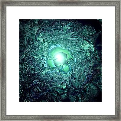The Tell Tale Heart Blue Framed Print by Dan Sheldon