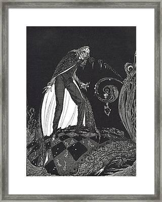 The Tell Tale Heart Framed Print by Harry Clarke