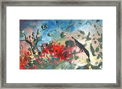 The Tempest Framed Print by Miki De Goodaboom