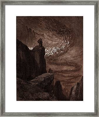 The Tempest Of Hell Framed Print