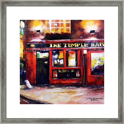The Temple Bar Framed Print