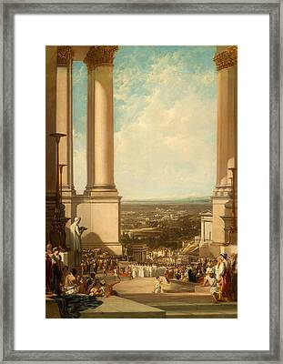 The Temple Of Aesculapius, 1837 Framed Print by Sir Augustus Wall Callcott