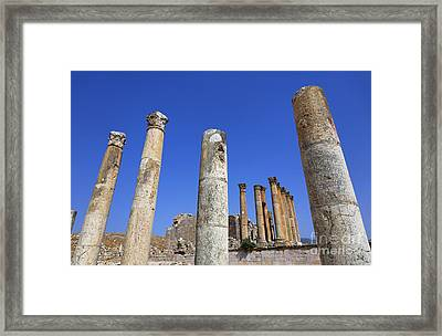 The Temple Of Artemis At Jerash Jordan Framed Print