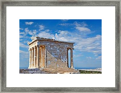 The Temple Of Athena Nike - Greece Framed Print by Constantinos Iliopoulos