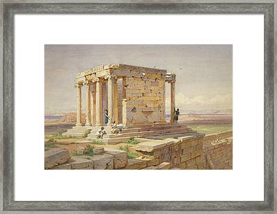 The Temple Of Athena Nike. View From The North-east Framed Print